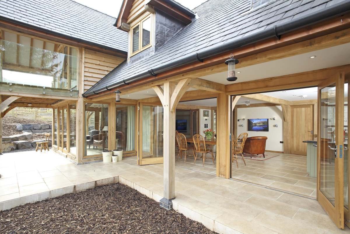 Case study pearce contemporary home welsh oak frame for Modern house john welsh